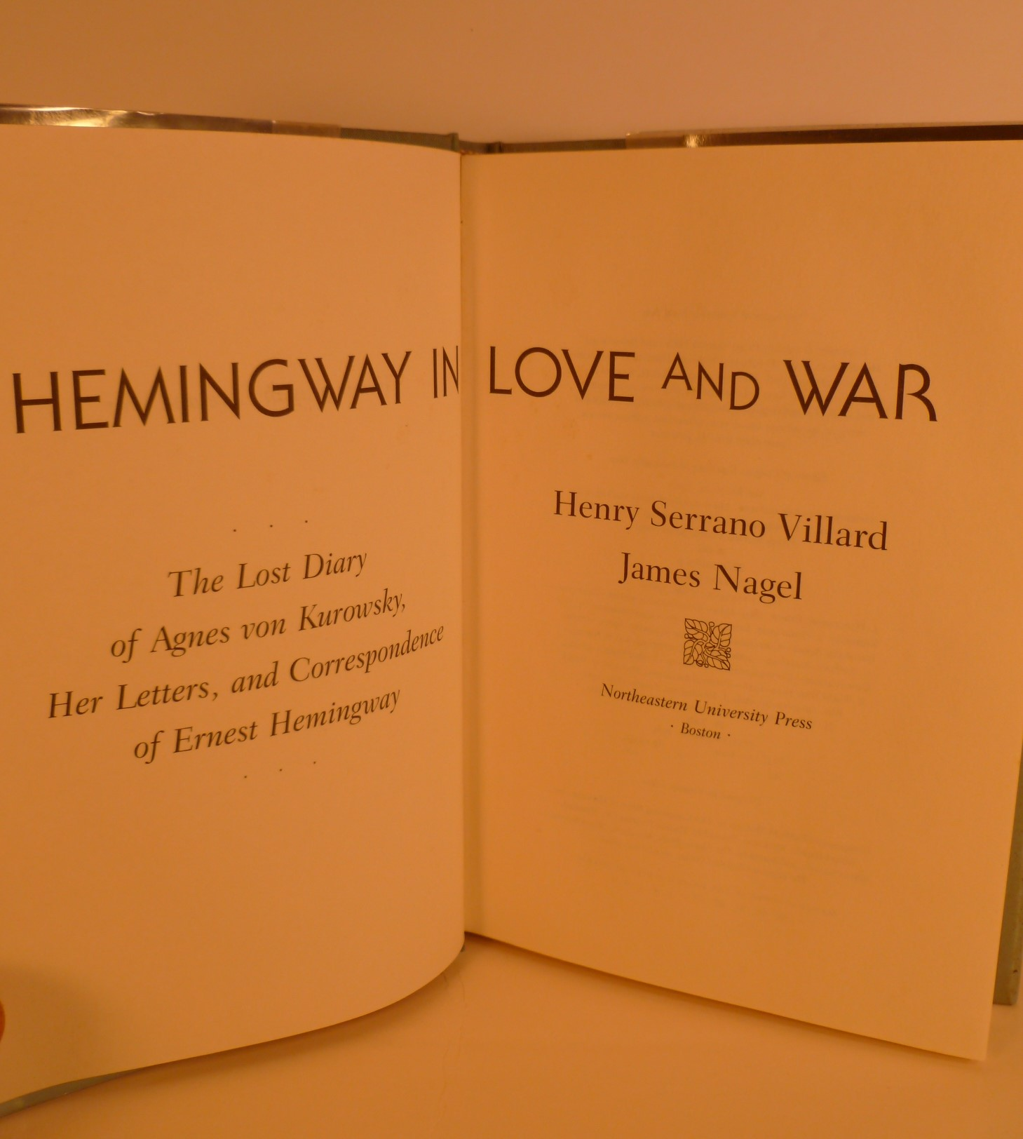 Hemingway In Love And War The Lost Diaryof Agnes Von Kurowsky