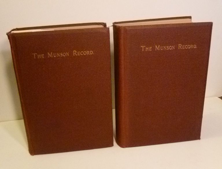 The Munson Record. A Genealogical and Biographical Account of Captain Thomas Munson And His Descendants. Myron A. Munson.