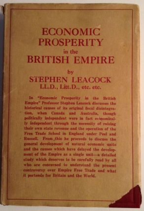 Economic Prosperity In The British Empire. Stephen Leacock