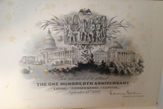 Celebration of the One Hundredth Anniversary of the Laying of the Corner Stone of the Capitol of the United States....