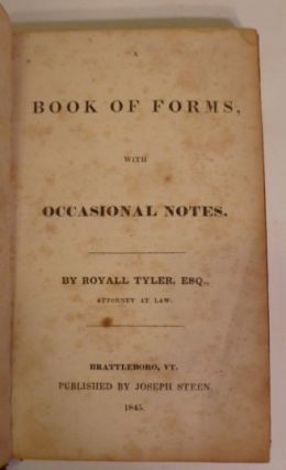Book of Forms, With Ocassional Notes