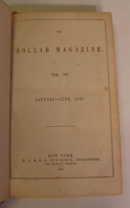 The Dollar Magazine- Vol. VII January- June 1851