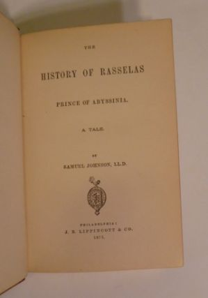 The History Of Rasselas Prince Of Abyssinia. A Tale