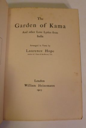 The Garden Of Kama And Other Love Lyrics from India