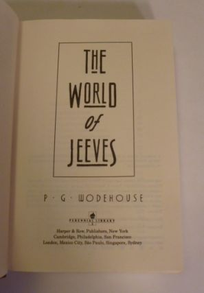 The World of Jeeves