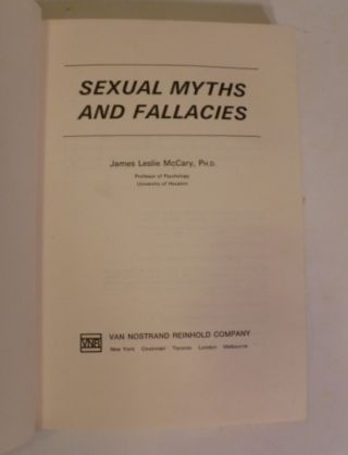 Sexual Myths And Fallacies