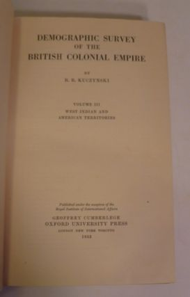 Demographic Survey Of The British Colonial Empire