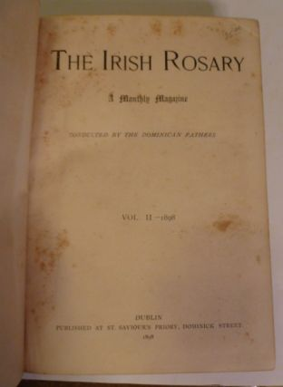 The Irish Rosary. A Monthly Magazine