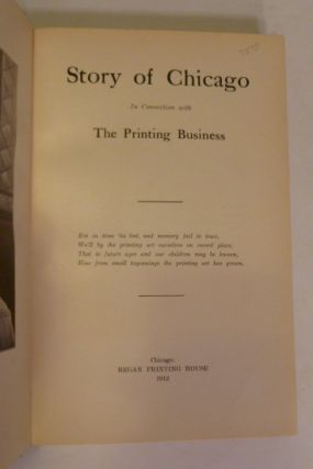Story Of Chicago; in The Connection With The Printing Business