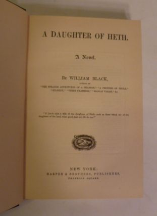 A Daughter Of Heth. ; A Novel
