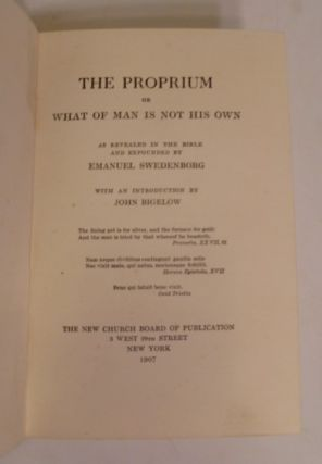 The Proprium Or What Of Man Is Not His Own