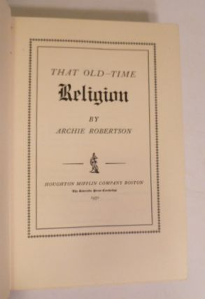 That Old- Time Religion