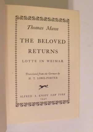 The Beloved Returns Lotte in Weimar
