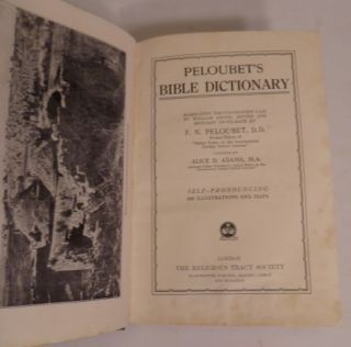 Peloubet's Bible Dictionary