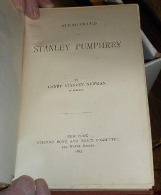 Memories of Stanley Pumphrey