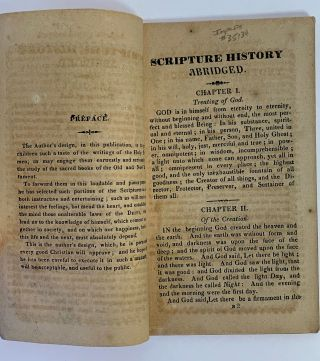 Scripture History Abridged. In Which It Is Designed To Give Children Such A Taste Of The Writings Of The Inspired Penmen, As May Engage Them Diligently To Study The Sacred Scriptures.