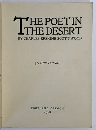 The Poet In The Desert. {A New Versito}.