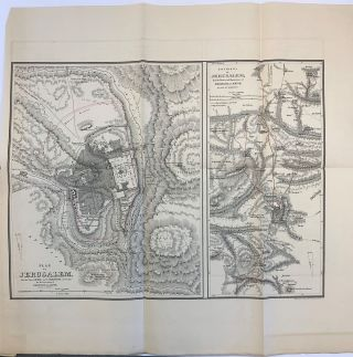 Maps To Robinson's Biblical Researches In Palestine, Mount Sinai and Arabia Petraea