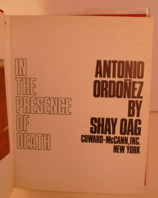 In the Presence of Death Antonio Ordonez