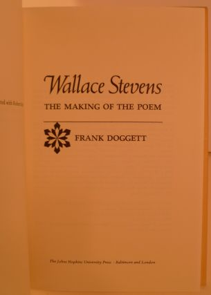 Wallace Stevens the Making of the Poem