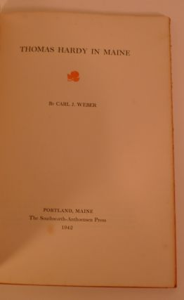 Thomas Hardy in Maine