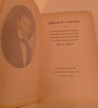 Abraham Lincoln. His Autobiographical Writings