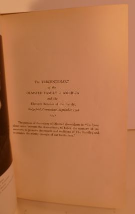 The Journal Of Gideon Olmsted....(IN) The Eleventh Reunion Of The Olmsted Family Held at Ridgefield, Conn. September17th., 1932
