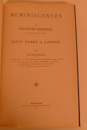 Reminiscences....Fifty Years A Lawyer