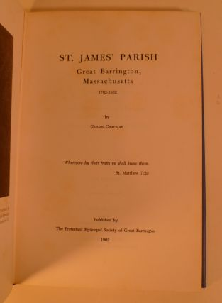 St. James' Parish Great Barrington, Massachusetts 1762-1962