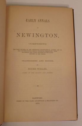 Early Annals of Newington...