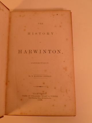 The History of Harwinton, Connecticut