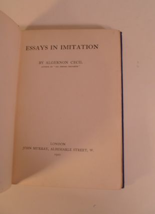 Essays In Imition
