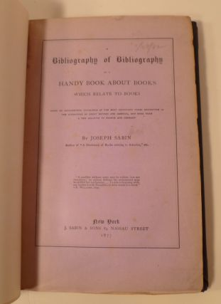 Bibliography Of Bibliography