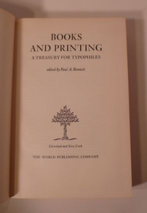 Books And Printing ; A Treasury For Typophiles