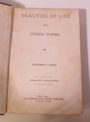 Beauties Of Life And Other Poems