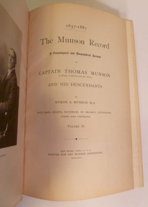 The Munson Record. A Genealogical and Biographical Account of Captain Thomas Munson And His Descendants.