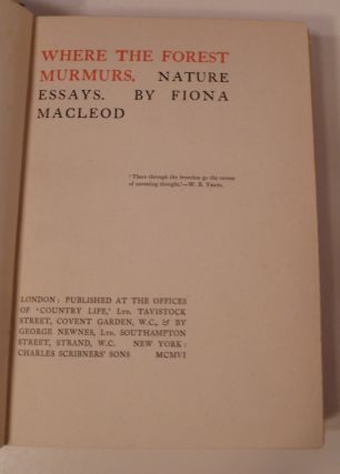 WHERE TH EFOREST MURMURS: Nature Essays.