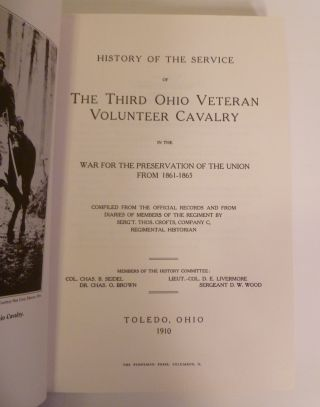 THE THIRD OHIO VETERAN VOLUNTEER CAVALRY