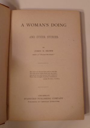 A WOMANS DOING: And Other Stories