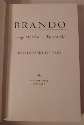 BRANDO - Songs My Mother Taught Me