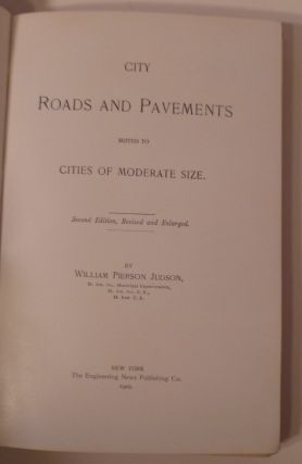 City Roads And Pavements Suited To Cities Of Moderate Size.