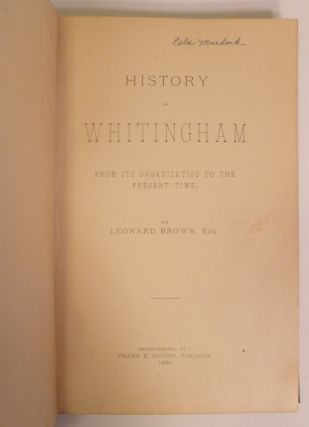 History of Whitingham