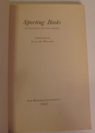 Sproting Books: In the Huntington Library, No. 2