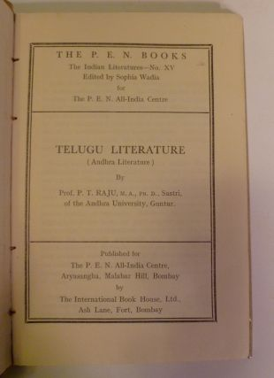The P.E.N. Books: The Indian Literatures- No. XV